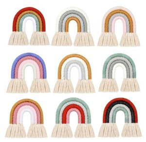 Tassel Pendant Nursery Decorations Tassels Rainbow Hanging Ornaments Baby Stroller Pendant Children Home Decor GWE4827