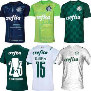 21 22 Camisas Palmeiras Home Away Soccer Jersey G.Gomez G.veron L.Adriano Ramires Dudu 2021 2022 Blue Homekeeper Conters