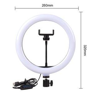 Video Işık Dim Led Selfie Yüzük Işık USB Halka Lambası Fotoğraf Işık Telefon Tutucu Ile 2 M Tripod Standı Makyaj OOD5003