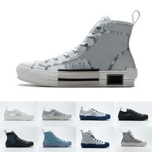 Herren High Top Shoe Blue White Blase Bienen Transparenz Noir Low Schräg Technische Turnschuhe Frauen Plattform Designer Casual Schuhe H960 H06