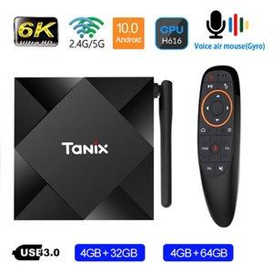 Tanix TT6s Android Caixa de TV com Antena Allwinner H616 Quad Core Smart 6K Media Player 4G Ram 64g ROM 2.4GHz 5G Wi-Fi Home Filme 4GB 32GB 2G16G Android10.0 Voice Remote