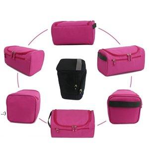 Portable Storage Bags Waterproof Men Solid Color Outdoor Sports Travel Duffel Zip Makeup Wash Bag OWD10619