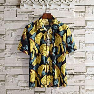 New men's surf quick dry short sleeve floral Coconut Beach Hawaiian loose Print shirt