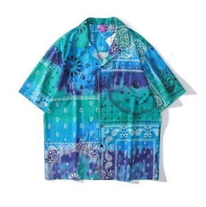 2021 NUEVO Kiryaquy Men Tie Thie Dye Green Paisley Costa Oeste Craseros Bloods Moda Algodón Camisas Casas Camisa de alta calidad Pocket D24 Hsyx