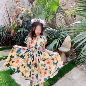 2021 high quality free shipping baby Girls Dresses Summer Children Floral Dress Sleeveless Kids Dress For Girls Butterfly Girls Clothes