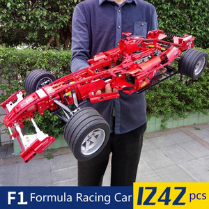 1242pcs Formula Racing Car 1:8 Model Building Blocks Sets Educational DIY Bricks Toys Technic 8674 X0127