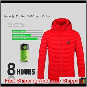 2021 Upgrade 8 Heating Zones Mens Women Heated Outdoor Vest Usb Electric Heated Hooded Long Sleeves Jacket Ther qylxmS hx_pack