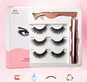 Vibrante glamour suave magnético delineador de ojos falsas pinzas pinzas preparadas para la belleza