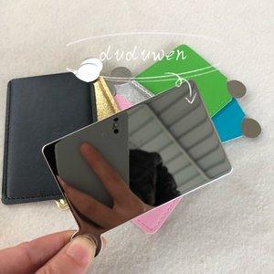 Portátil c maquiagem espelho marca marca cosméticos ferramentas espelho mini espelho com presente de festa de capa