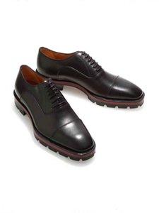 LOUBOUTIN CHRISTIAN Gentleman Wedding,Dress,Party Red Bottom Dress Oxfords Shoe Hubertus Orlato Oxford Genuine Leather Lined Lug Sole Lo ham