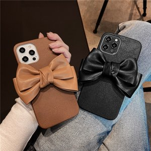 Cubic Bow Charms Phone Cases Soft Protection Phone Cases for iPhone 12 11 Pro Max XS XR X 7 8Plus