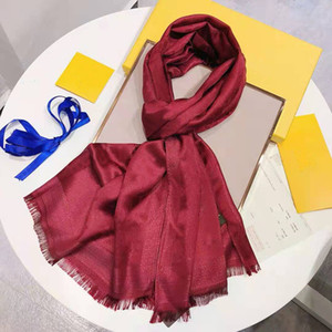 90-180cm new brand women's senior long single layer chiffon silk shawl fashion travel soft designer luxury gift scarf printed letter scarf