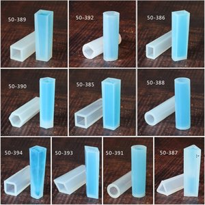 Silicone Pendant Mould DIY Handmade Jewelry Mold Sliver Cylinder Trapezoid Crystalline Form Shaped Baking Moulds OWD10213