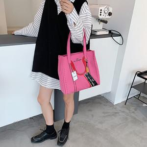 HBP Large Capacity Women Bag 2021 New Designer Fashion Shopping Totb Canvas Bag Ladies Simple and Versatile Shoulder Bag Totes Wholesale