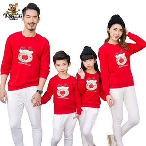 Family Clothing Christmas Deer Kid shirts Mommy and Me Clothes Mother Daughter Father Baby Rompers Family Matching Outfits 210317