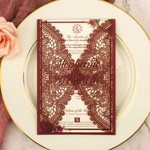 1pcs sample free shipping Laser Cut Pearl Paper wedding invitation cards for wedding engagement Bridal shower birthday