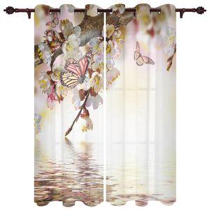 Полупрозрачный роскошный занавес бабочка речной водяной цветок гостиной шкаф для кухни спальня дома изысканные окна занавески