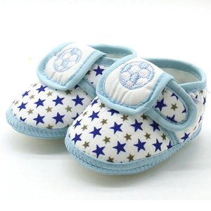 Newborn Infant Baby Star Girls Boys Soft Sole Prewalker Warm Casual Football Flats Shoes Round Toe Flats Soft Baby Toddle Shoes