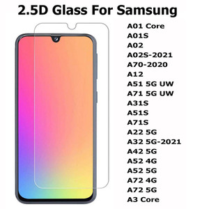 Samsung Galaxy A01 Çekirdek A01S A02 A02S A12 A31S A51S A71S A22 5G A32 A42 A52 A72 5G A3 Çekirdek 2.5D Temperli Cam Telefon Ekran Koruyucu