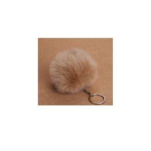 Fluffy Pompon Fur Ball Key Chain For Women Faux Rabbit Fur Pompom Keychain Charm Bag Key Ring Holder Gifts Ran jllqdE