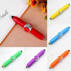 1pcs Penna a sfera Penna Gyro Pen multi-funzione Spinner Toy Point Point LED Light Alleviare lo stress