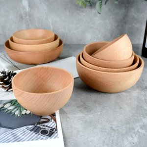 Bowls Portable Salad Bowl Wear-resistant Wood Multifunctional Simple For Home