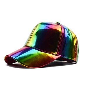 미래로 돌아 가기 무지개 색상을위한 힙합 모자 모자 뚜껑을 바꾸는 미래의 소품 Bigbang G-Dragon 야구 모자
