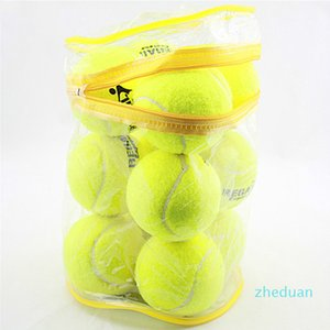 12pcs Lot High Quality Elasticity Tennis Ball for Training Sport Rubber Woolen Tennis Balls for tennis practice with free Bag