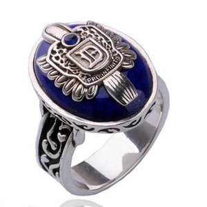 The Vampire Diaries Ring New Fashion Punk Blue Enamel Ring For Women Men Fashion Jewelry Accessories