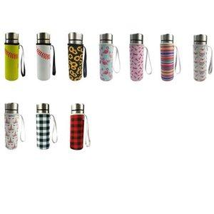 Neopren-Wasser-Flaschenhalter-isolierte Hülsenbeutel Case Tasche Tasse Abdeckung für 550ml 17 Farben