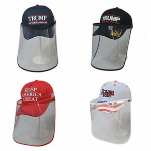 Mask America Great Make Trump Again 3d Cap Embroidery Baseball Removable Outdoor Transparent Protective Hat Masks Face SMHZ2