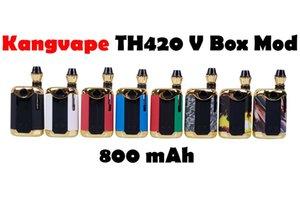 Authentic KangVape Th-420 V Box Mod Kit Th420 Starter 800mAh Vape VA VV Pré-aquecimento Bateria Ajuste Cartuchos de Óleo grosso