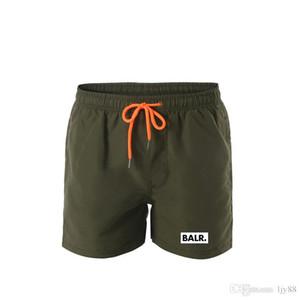 2020 Hombres diseñadores de verano pantalones cortos pantalones moda 4 colores letra impresa cordones cortos 2019 relajado homme lujoso pantalones de chándal