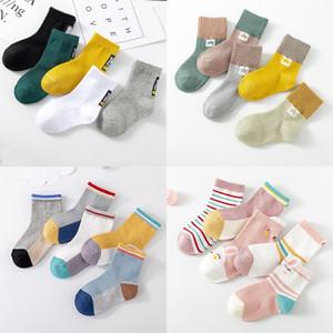 Kids Soft Cotton Socks Boy Girl Baby Cute Cartoon Warm Stripe Fashion Sport For Spring Summer Autumn Winter Children 0035