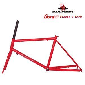 Автомобильные Грузовые стойки Darkrock Goni Mini Velo Frame Fork CR-MO 4130 Сталь 22 '' Дорога Шоссе Велосипедные Части Классический Chrome Silver
