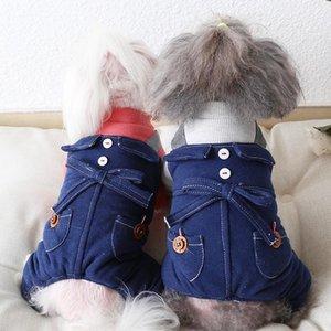 Puro algodão cão roupas saia roupas de estimação inverno aquecido novo lazer sling alta cintura quatro perna