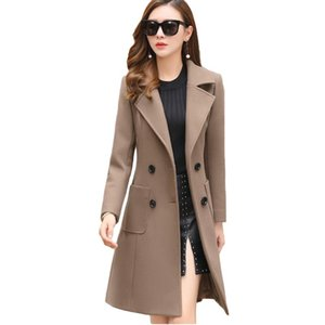 VogorSean Winter Woman Wool Coats Warm 2021 Slim Fit Fashion Casual Office Blends Womans Wool coat Jacket Khaki Army Green