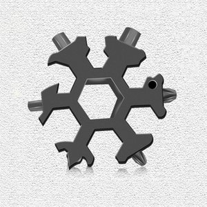 18-in-1 Snowflake Multi Tool Stainless Steel Snowflake Durable Portable Bottle Opener Flat Screwdriver Kit Wrench Great Christmas
