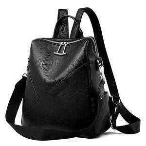 Backpack Soft Leather Shoulder Bag Women's Genuine Cowhide Large-capacity Stylish Minimalist Women