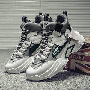 High Top Sport Shoes Men Comfort Man Warm Platform Sports Shoes Lace-up Outdoor Men's Leather Sneakers