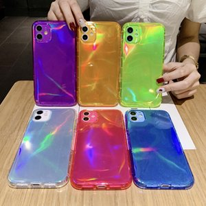 Silicone Lens Protection Phone Case On For iPhone 11 12 Pro Max 8 7 Xr Xs Max X Color Shockproof Soft Back Cover