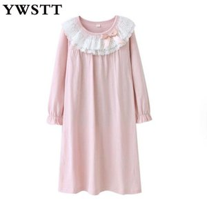 Nightgowns Summer Princess Nightgowns For Girls Nightdress Cotton Kids Sleepwear Teens Clothes 10 Years Girl 210225
