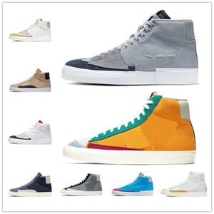 Nike SB Blazer Mid shoes un buen juego Blazer Mid 77 Vintage League of Legends Fluorescence City Pride Cool Grey Suede Hombre para mujer zapatos deportivos zapatillas de deporte