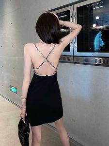 shirt 2021 Dress Hoodie crossbody Watch Vest suspender sexy Rhinestone chain backless party black Off Shoulder Evening