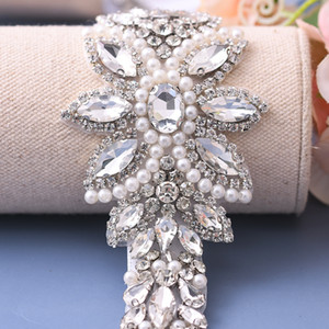 TOPQUEEN S410 Rhinestones Wedding Belt Sash Silver Diamond Crystal Bridal Belt For Wedding Gown Wedding Decoration Girdles