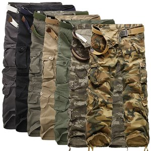 2021 New Safari-style Male Tactical Camo Casual Jogger Multi-pocket Military Cotton Camouflage Men's Cargo Pants 2tj8