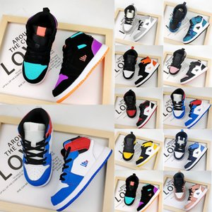 NUEVA LLEGADA NIÑOS AIRE 1S Zapatos de baloncesto Bicicleta Boy Girl transpirable Retro Zapatillas de correr Niño High Top Sport Boots Kids Cuero Zapatillas al aire libre