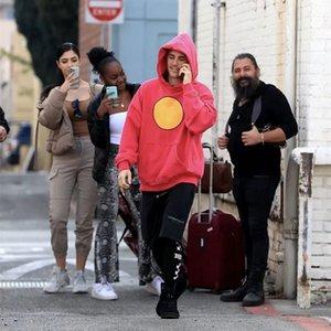 Sorriso rosto camisola homens e mulheres casual manga longa solta carta de pulôver outono e inverno moda marca hoodie zipper casaco puro algodão