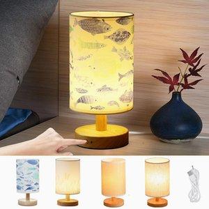 İskandinav mastürbasyon led masa lambası taşınabilir baskı usb kumaş yatak odası başucu gece lambası çocuk odası dekor