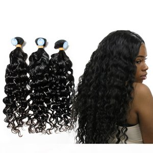 Best 10A Unprocessed Raw Virgin Human Hair Water Wave Wet and Wavy Brazilian Peruvian Indian Malaysian Hair Weave Natural Color Can Bleach